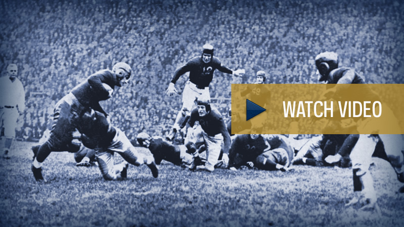 "Notre Dame's First ""Game of the Century,"" 1935 - Video"