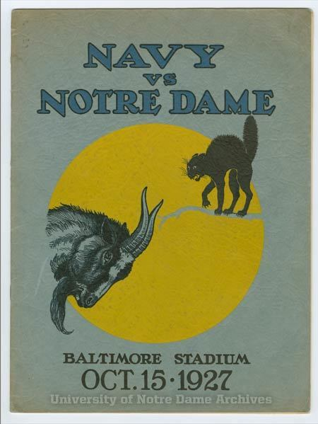 008: Program for first ND/Navy Match
