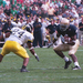 Ryan Grant ('05) runs against the Wolverines at Notre Dame Stadium.