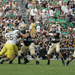 Brady Quinn ('07) looks for an Irish receiver during Notre Dame's 2006 contest against Michigan.
