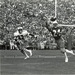 Joe Howard reaches out for a pass in Notre Dame's 1982 game against Miami.