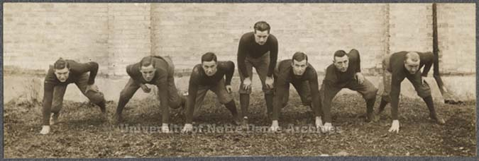 1910 Notre Dame offensive line
