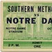 Oct. 4, 1930: Notre Dame 20, Southern Methodist 14 (first game in Notre Dame Stadium history)