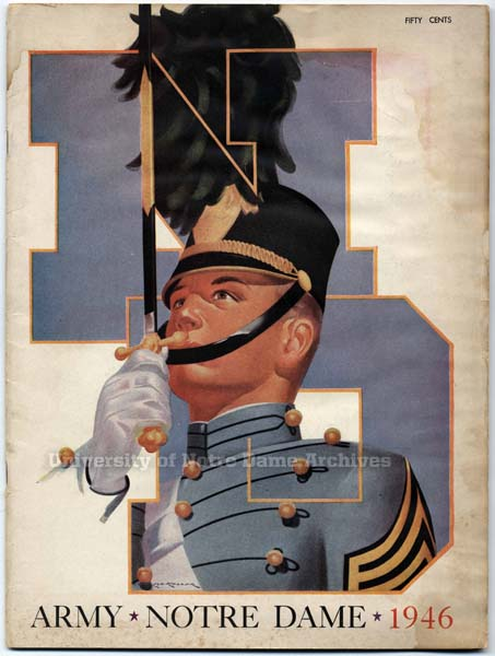 1946 Army game program