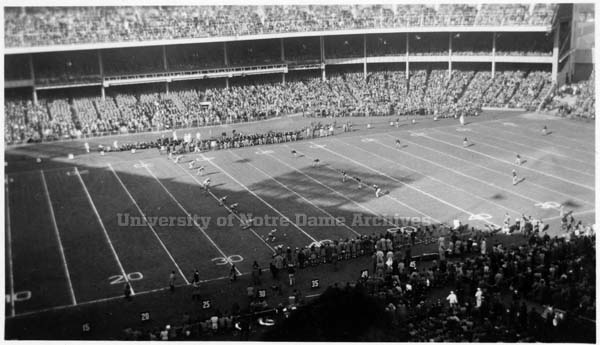 1928 Notre Dame Army kickoff