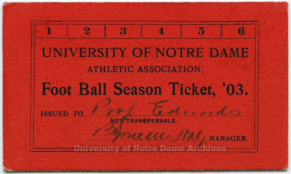 1903 season ticket