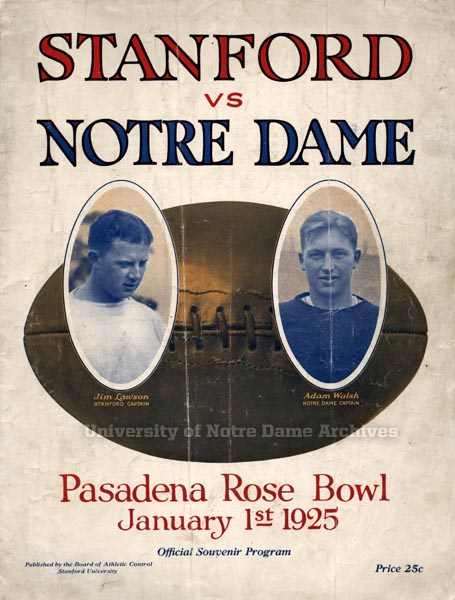 1925 Rose Bowl program