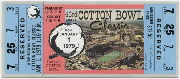 1979 Cotton Bowl ticket